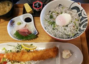 しらす丼定食 1,620円