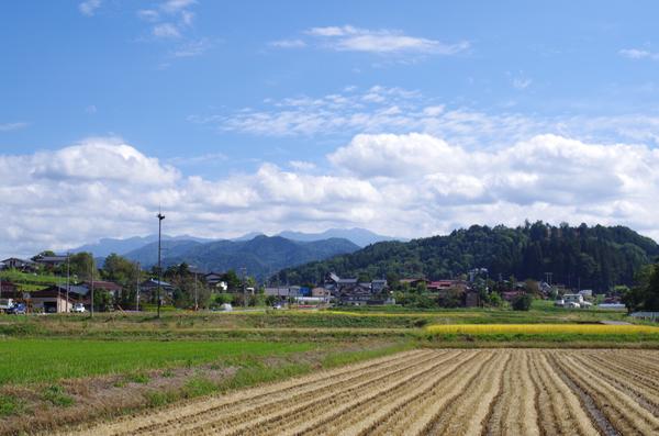 丹生川から眺める乗鞍岳