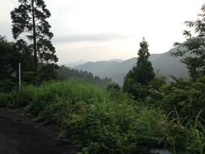 八草峠 岐阜県側の眺め