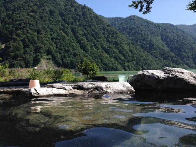大白川温泉露天風呂 3