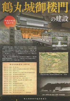 鶴丸城御楼門の建設 1