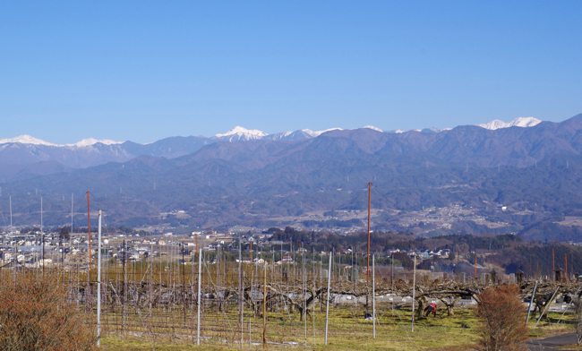 飯田より南アルプスを眺めて