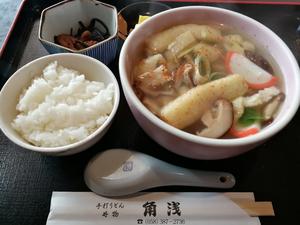 角浅 志の田そば定食 750円