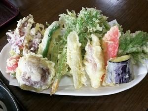 飛騨荘川 蕎麦正 山菜天ぷら
