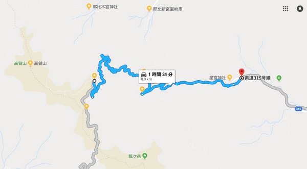 高賀山 ⇄ 星宮神社