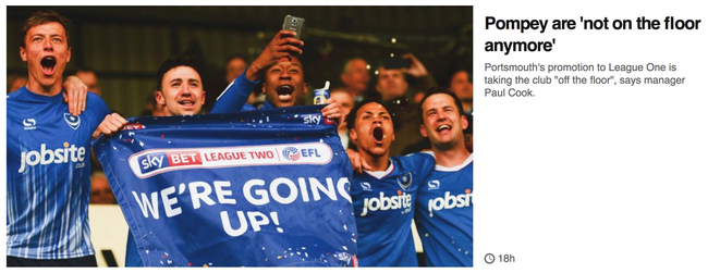 Portsmouth 昇格