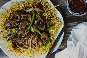 beef crispy fried noodles